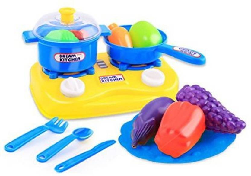 Alonea Childrens Kitchen Pots And Pans Pretend Play Kitchen Set For