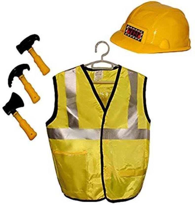 f99182444f17 Toy Cubby Construction Worker Role Play Dress Up Costume - Includes ...