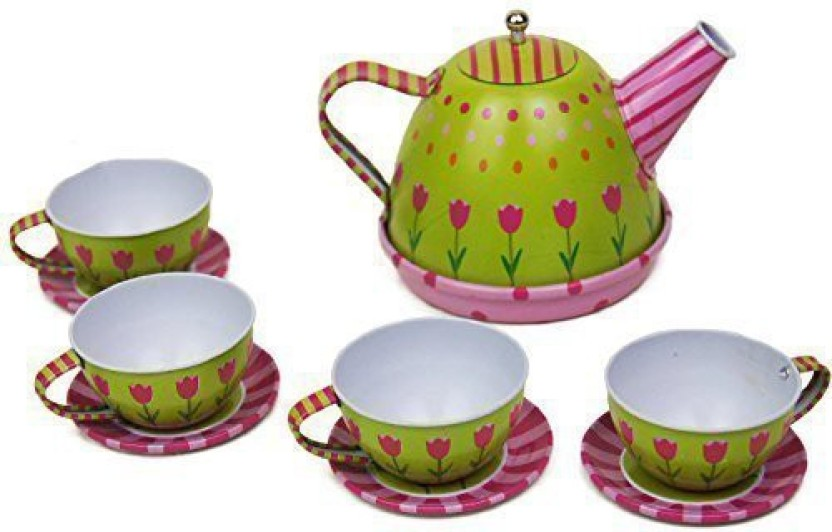 11 Pcs Children Pretend Play Tea Set Teapot Toy Role Play  Toys