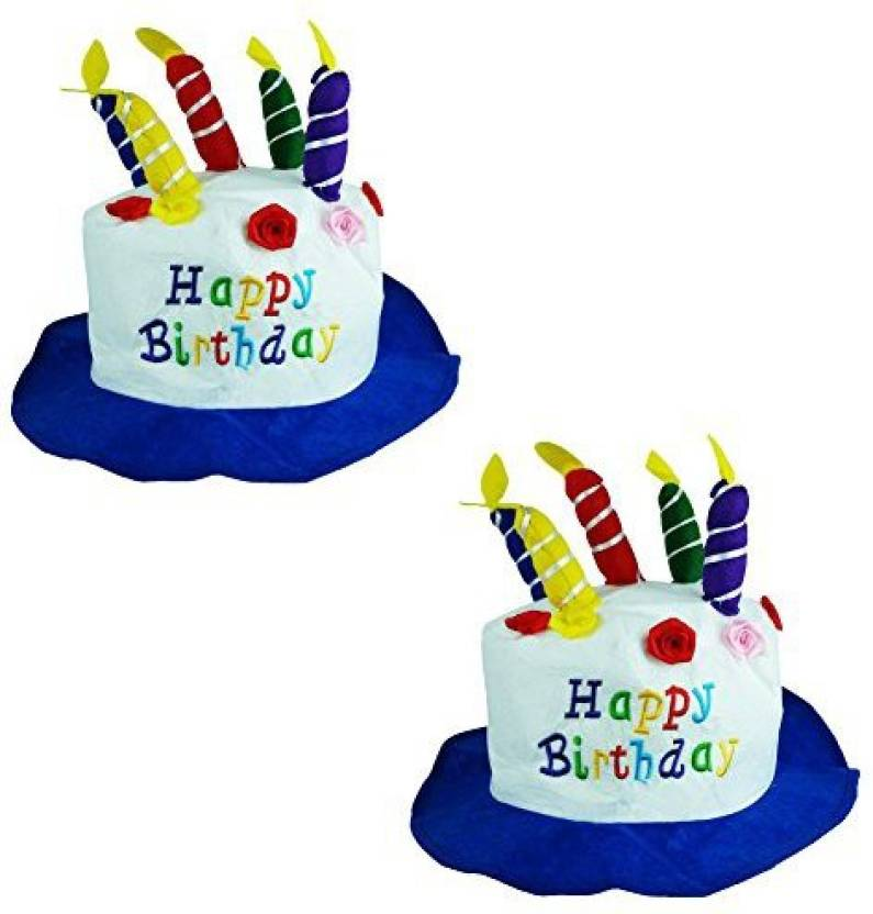 Generic Felt Birthday Cake With Candles Hats