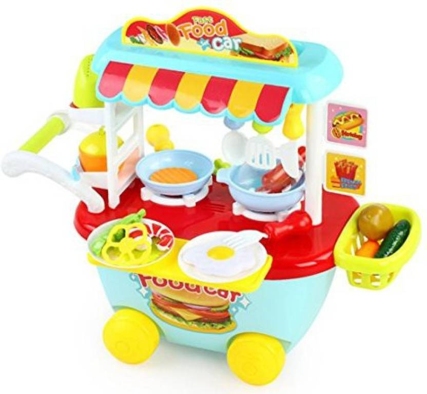 Brilliant Wolfbush Play Food Children Fast Food Car Cooking Play Home Interior And Landscaping Ymoonbapapsignezvosmurscom