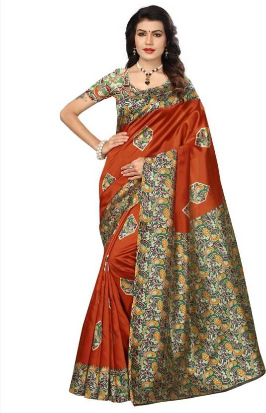 ed0efcb1b Buy HITESH ENTERPRISE Floral Print Mysore Silk Multicolor Sarees ...