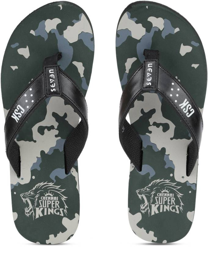 6af8999ec3b68e Seven By MS Dhoni CAMO Flip Flops - Buy Green Color Seven By MS Dhoni CAMO  Flip Flops Online at Best Price - Shop Online for Footwears in India