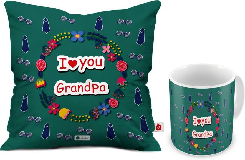Indigifts Gift For Grandparents Anniversary Dada Nana Granddad Birthday Grandfather Mug Grandpa D CM001 GDF17047 Cushion Set Price In