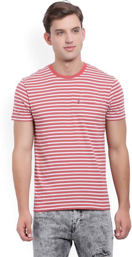 21d37c536284f5 Levi's Striped Men Round Neck Red, White T-Shirt - Buy Red Levi's Striped  Men Round Neck Red, White T-Shirt Online at Best Prices in India |  Flipkart.com