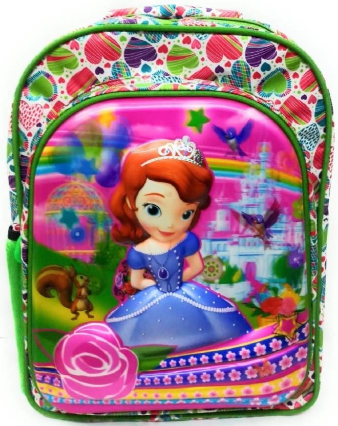 3474d556780b Smart Kids High Quality Waterproof School Bag Disney Cinderella Princess 3D  Character Age Group (8-12 Yrs) Waterproof School Bag (Multicolor