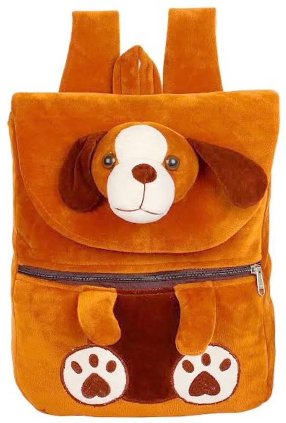 DZert School Bag For Kids Dog Soft Plush Backpack For Small Kids Nursery Bag  (Age 2 to 6 Years) Plush Bag (Brown 919a19babb48f