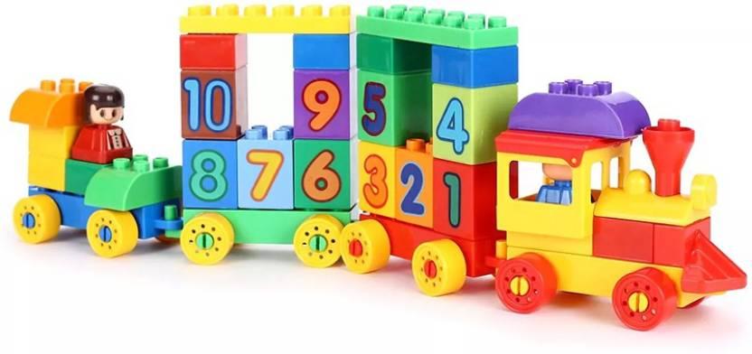 95285534ae2 Virgo toys Play Blocks Number Big Train Set