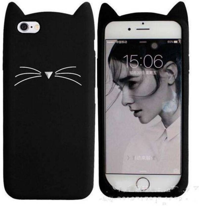 san francisco 3e39a d7704 Acesquare Back Cover for 3D Cute Cartoon Beard Cat Silicon Rubber Case  Cover For Apple iphone 6/6s