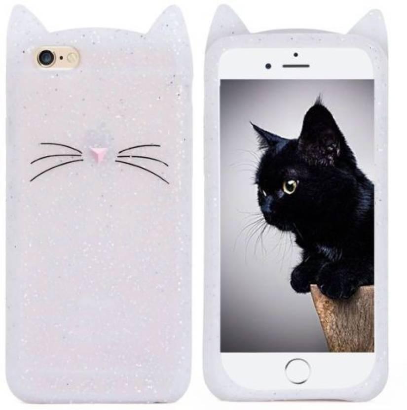 cheap for discount 68840 3b065 Acesquare Back Cover for Apple iPhone 7/8 Cute Cartoon Beard Cat Ear ...