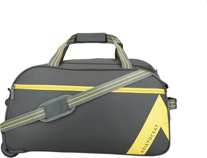 2960187dc0c2 Aristocrat 26 inch 66 cm DAWN DUFFLE TROLLEY 62 GRY Duffel Strolley Bag  (Grey)