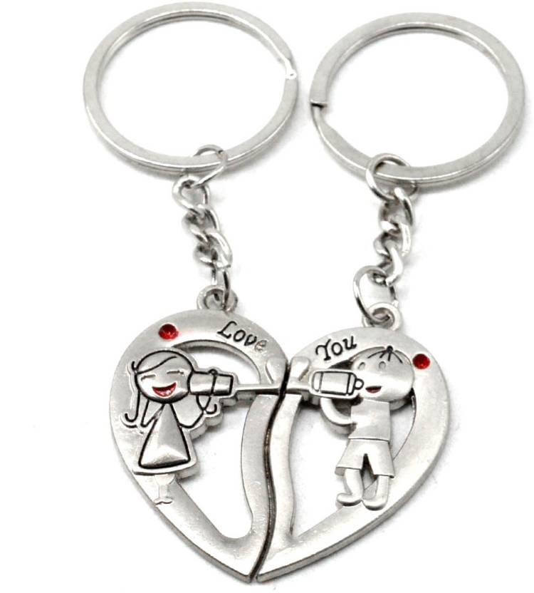 0861b7756e Faynci l Love You Romantic Couple Heart Love Key Chain Gifting for  Valentine Day Key Chain