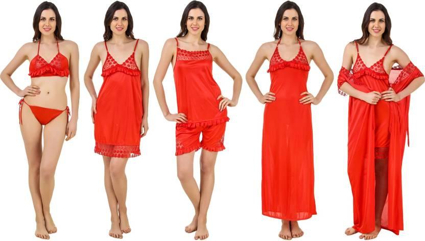 Keoti Women Nighty Set - Buy Red Keoti Women Nighty Set Online at ... 912d3af89