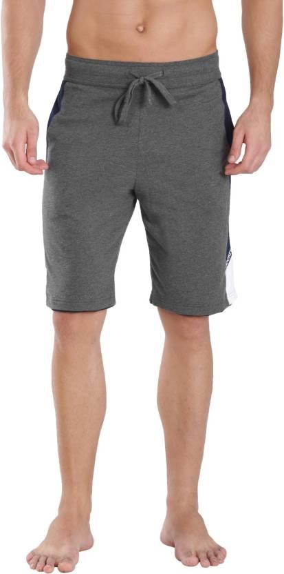 cdcccaccc Jockey Solid Men s Sports Shorts - Buy Charcoal   navy Jockey Solid ...