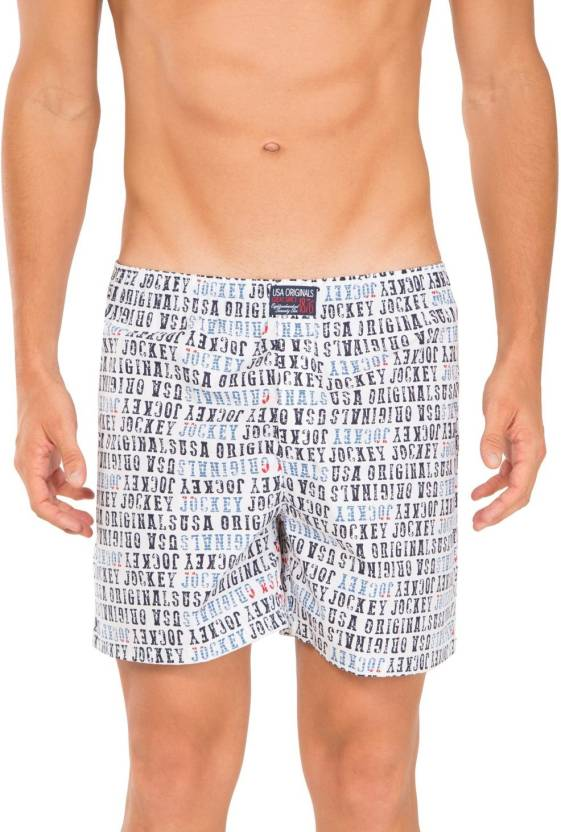 18a86e7e3c Jockey Printed Men White Beach Shorts - Buy White Prints Jockey Printed Men  White Beach Shorts Online at Best Prices in India | Flipkart.com