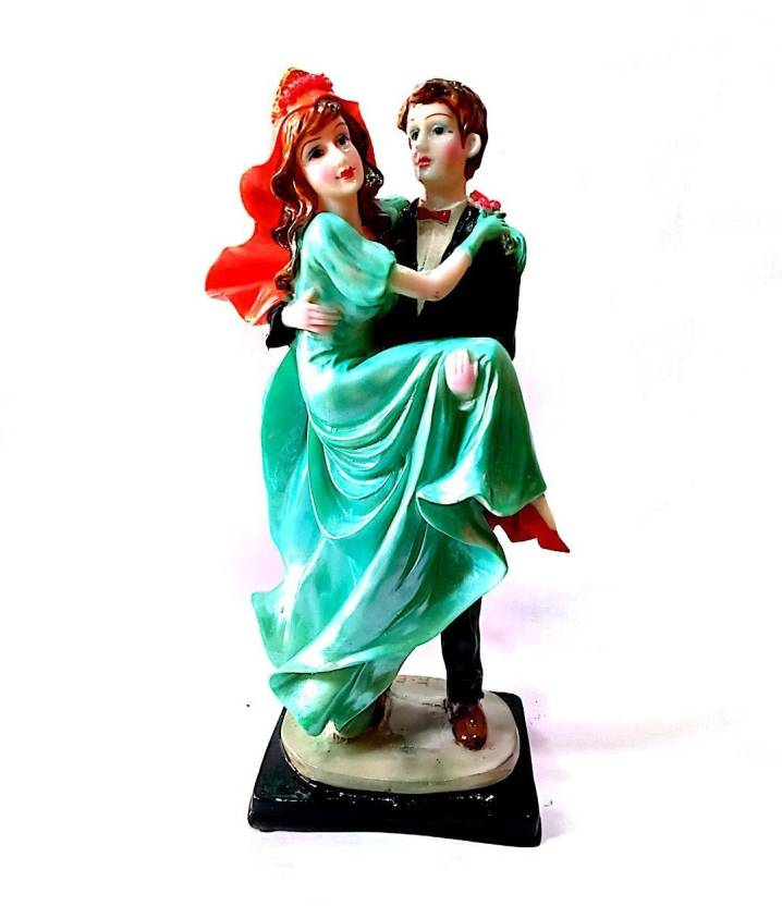 Krishnagallery1 Wedding Love Couple Statue Polystone Shinning Idol