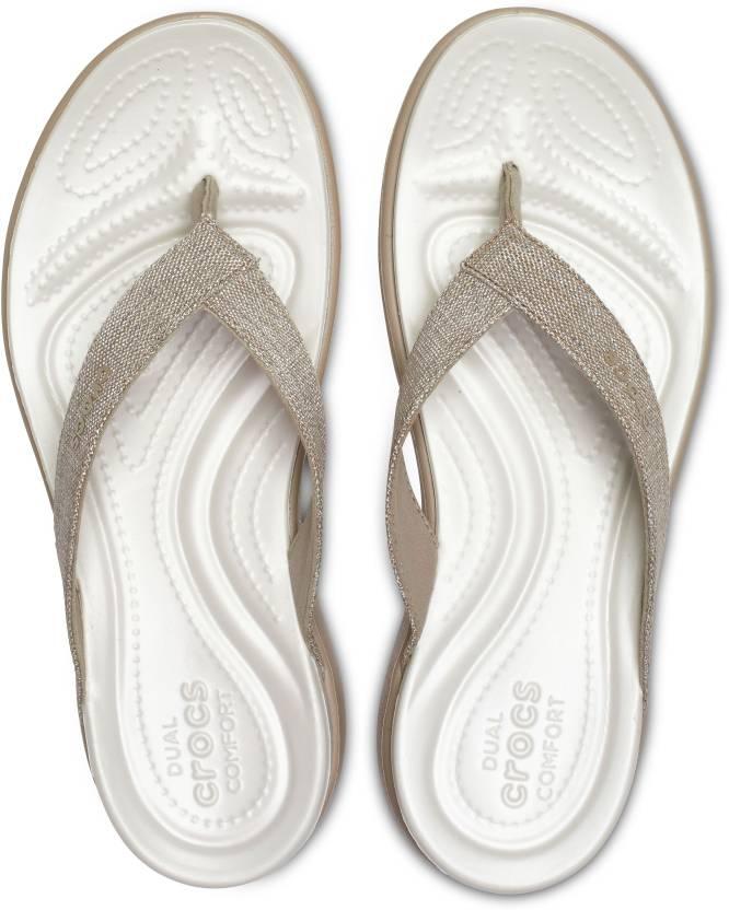 ac3276498 Crocs Crocs Capri V Shimmer Flip W Flip Flops - Buy Crocs Crocs Capri V  Shimmer Flip W Flip Flops Online at Best Price - Shop Online for Footwears  in India ...