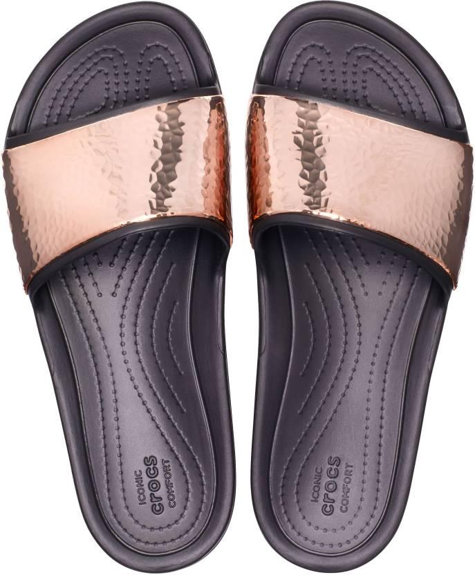 c77e274cea3a26 Crocs Crocs Sloane Hammered Met Slide W Slides - Buy Crocs Crocs Sloane  Hammered Met Slide W Slides Online at Best Price - Shop Online for  Footwears in ...