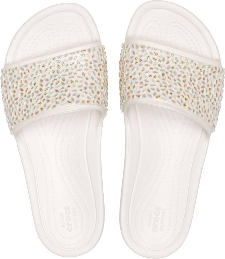 d8a8d8a20876 Crocs Crocs Sloane Embellished Slide Slides - Buy Crocs Crocs Sloane  Embellished Slide Slides Online at Best Price - Shop Online for Footwears in  India ...