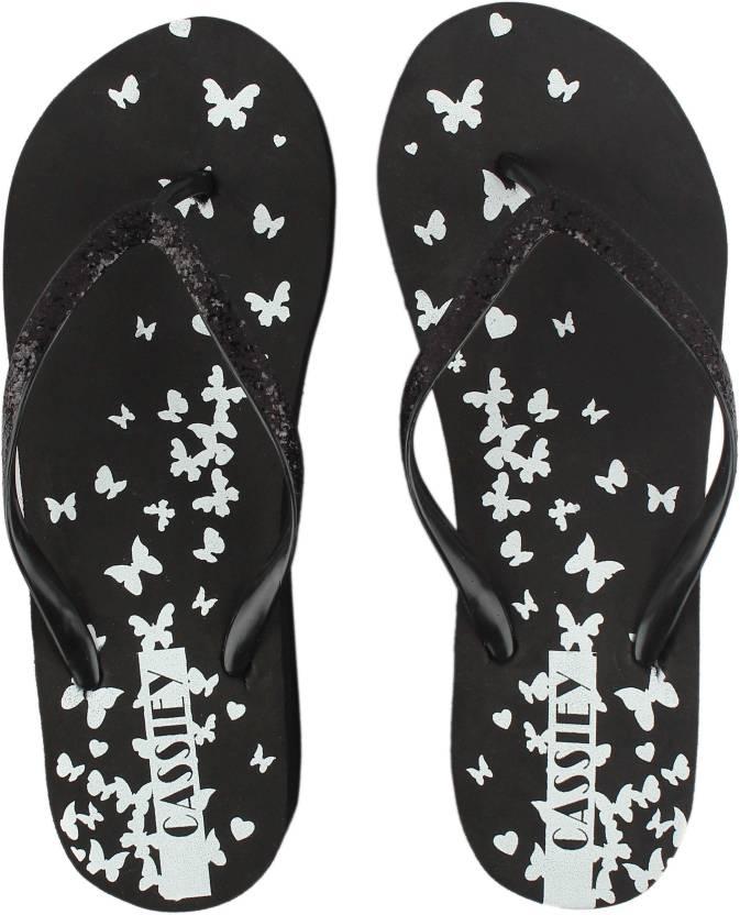 65bac1c022ca IRSOE Black Comfort Foam Printed Wedge Flip Flop Sandal Flip Flops - Buy  IRSOE Black Comfort Foam Printed Wedge Flip Flop Sandal Flip Flops Online  at Best ...