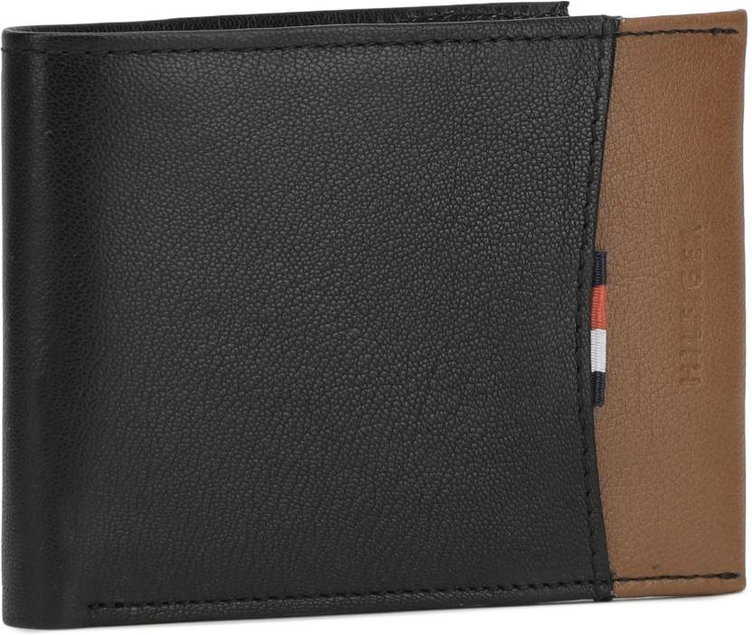 380546c6 Tommy Hilfiger Men Casual Black, Brown Genuine Leather Wallet (8 Card Slots)