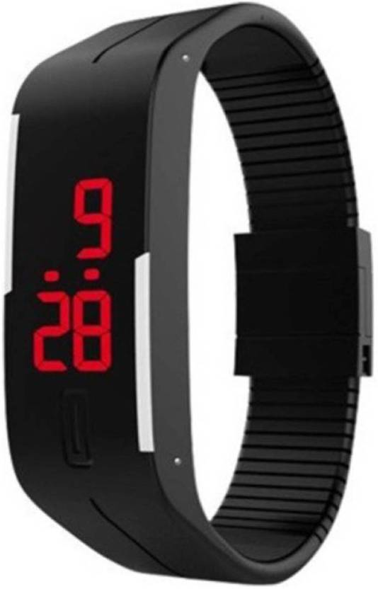 Ad Global Stylish Digital Hand Band Watch For Men