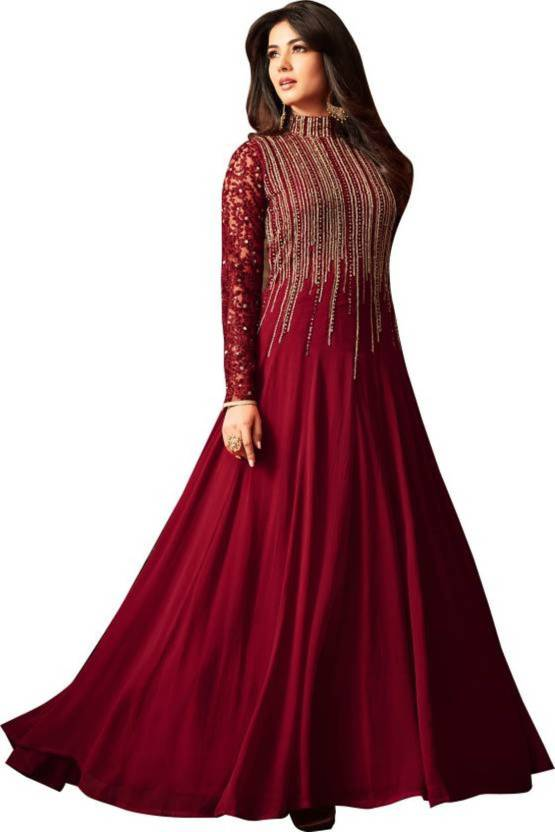 6b47201821 Style Amaze Anarkali Gown Price in India - Buy Style Amaze Anarkali ...