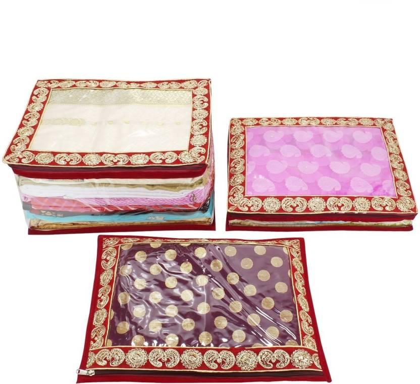 d6a71ab47e6 BlushBees Gota Border Transparent Saree Cover Bags
