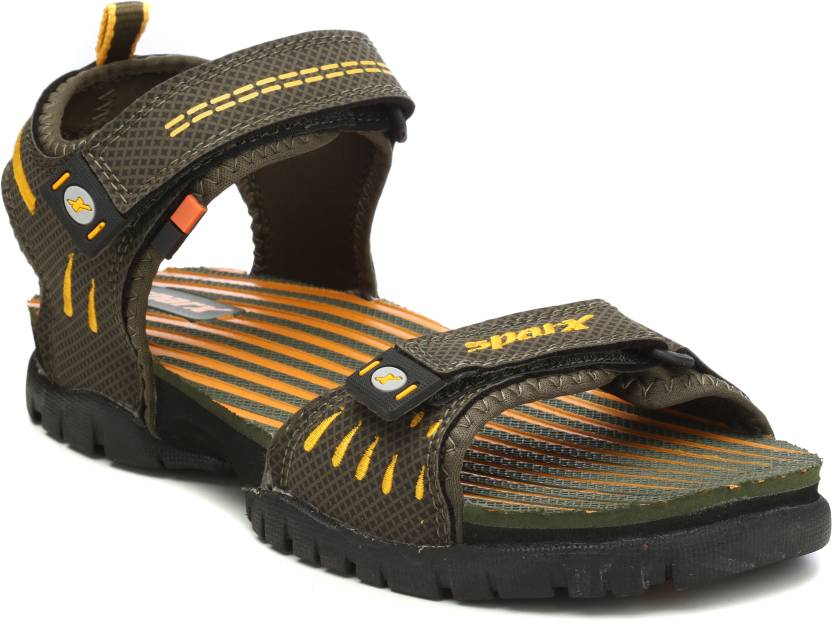 e0bf52bd726d1a Sparx Men Olive Yellow   Olive Green Sports Sandals - Buy Olive ...