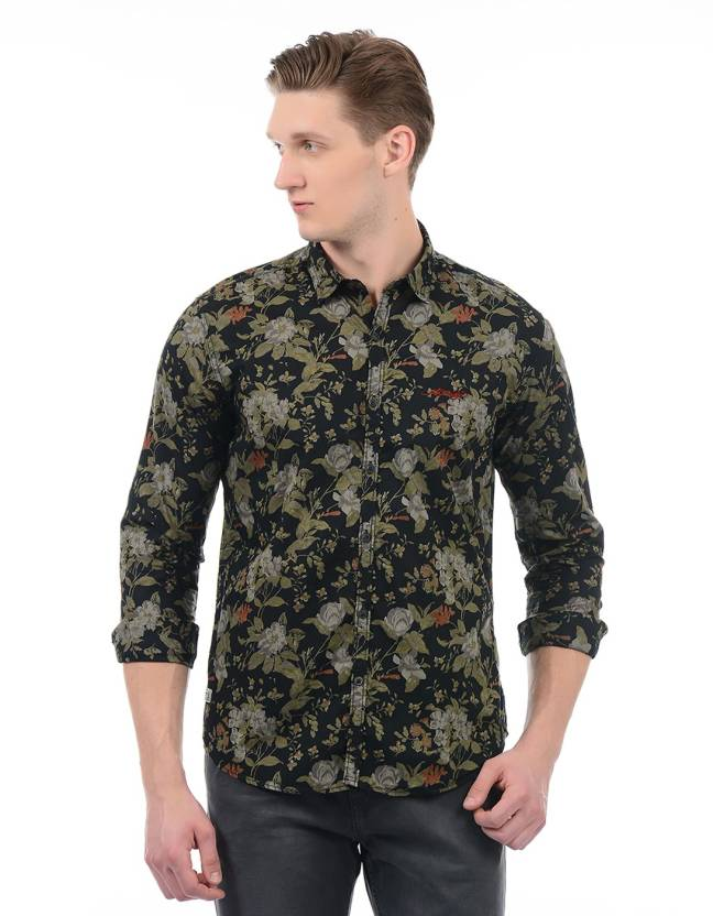 0c924f32d0a Ed Hardy Men Floral Print Casual Black Shirt - Buy Ed Hardy Men Floral Print  Casual Black Shirt Online at Best Prices in India