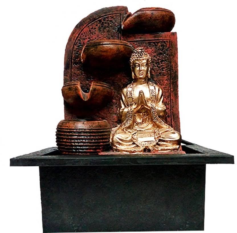 FABZONE Lord Buddha God Gautam Idol Handicraft Indoor Water Fountain Home Decorative Vastu Figurine Decor