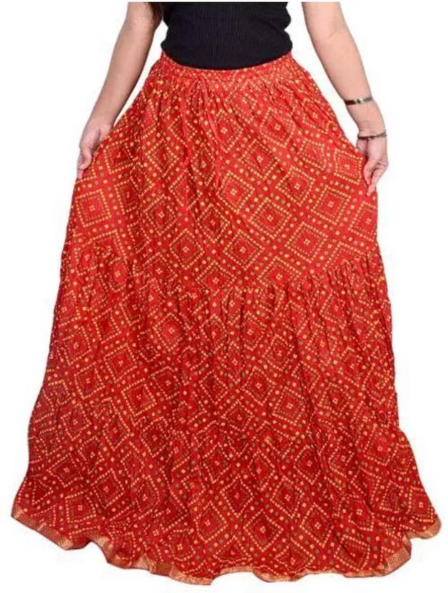 e5bfa795cb jaipuri skirts Printed Women Regular Red Skirt - Buy jaipuri skirts Printed  Women Regular Red Skirt Online at Best Prices in India | Flipkart.com