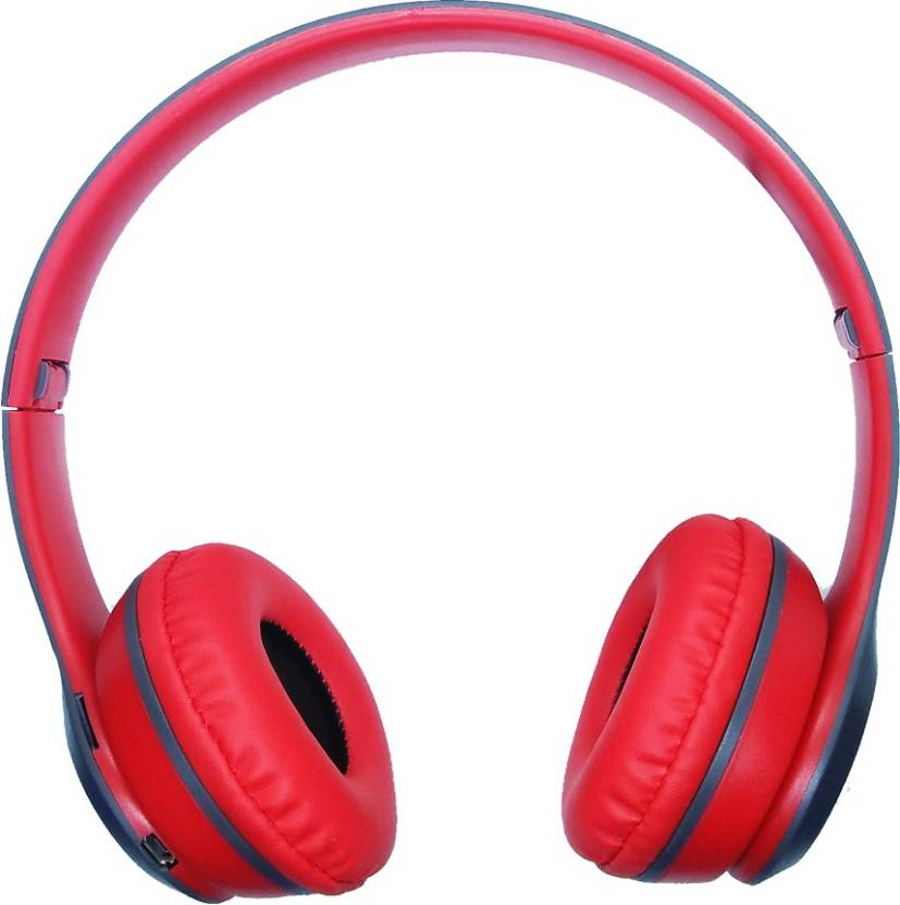 2e9795c7f4b Sonilex SLBT21 4 IN 1 Bluetooth Wireless Stereo Headphone Bluetooth, Wired,  Radio Frequency Headset with Mic (Red, Grey, Over the Ear)