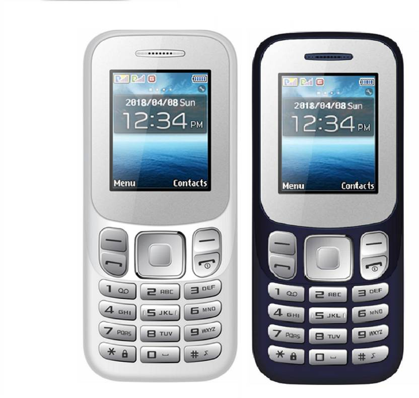 big sale 66422 dd94c I Kall K16 New Combo of Two Mobiles (White   Dark Blue)