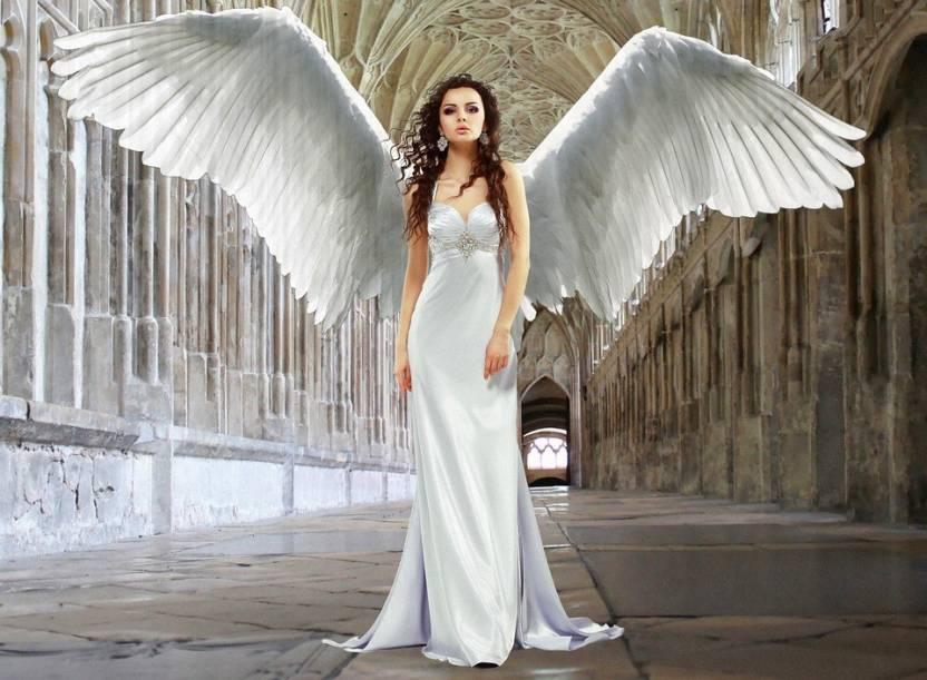 Azohp8483 Angel Groom Parasol Bride Dress Wedding Paper Print