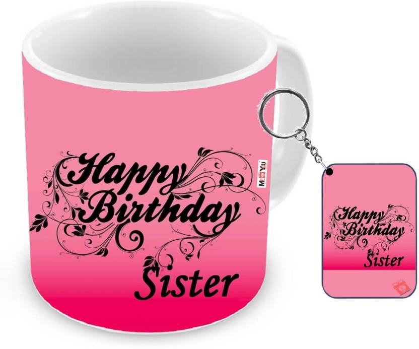 MEYOU Gifts For Sister Birthday Special Gift IZ18NJPMK 1938 Mug Keychain Set Price In India