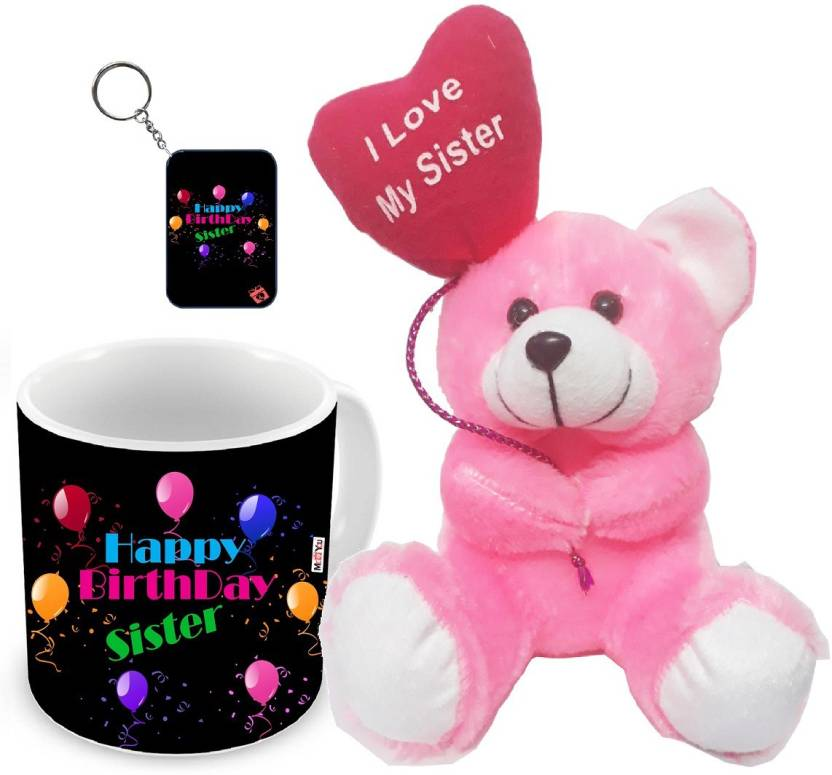 MEYOU Gifts For Sister Birthday Special Gift IZ18NJPTMK 1949 Soft Toy Mug Keychain Set Price In India