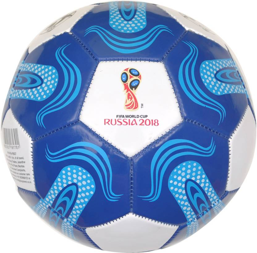 10caa9ef6 FIFA World Cup Russia Start Football - Size: 5 (Pack of 1, White, Blue)