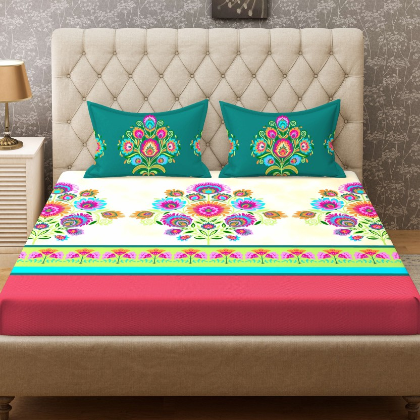 Stellar Home 104 TC Cotton Double Printed Bedsheet