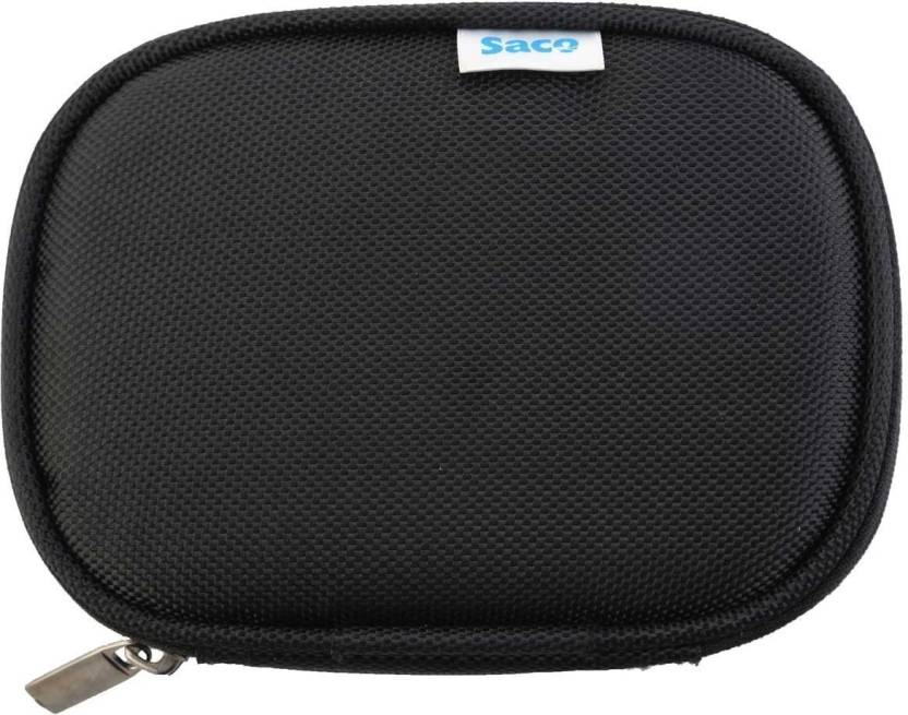 Saco Pouch for WD My Passport Ultra 2TB Portable External USB 3.0 Hard Drive (Black, Artificial Leather)