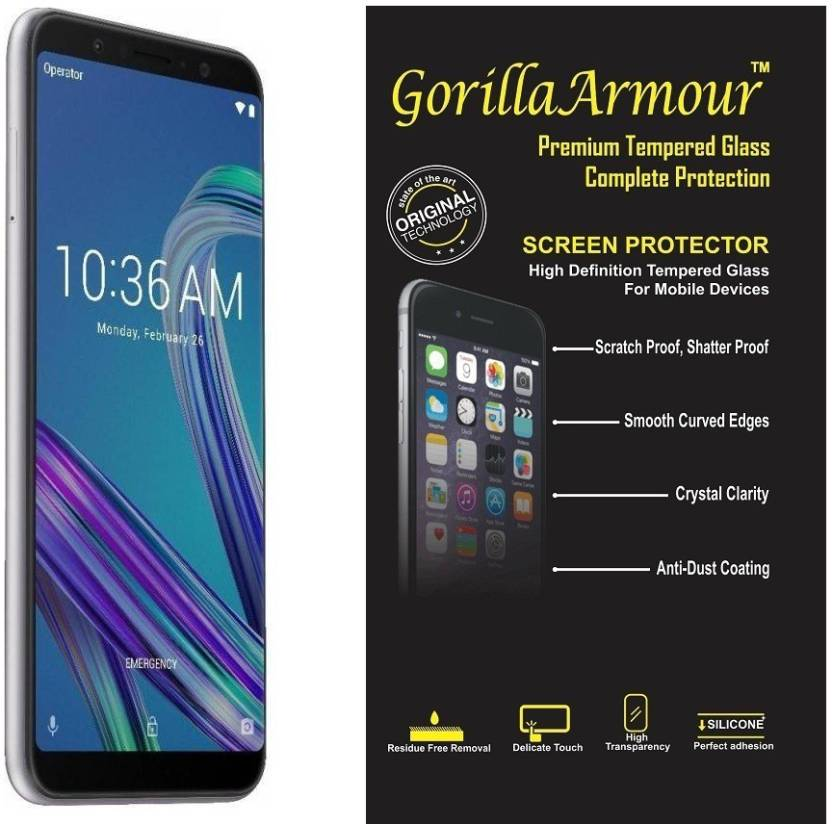Gorilla Armour Tempered Glass Guard for Asus Zenfone Max Pro M1 Pack of 1