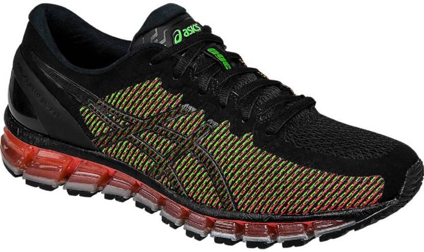 purchase cheap 5b8b2 51173 Asics GEL - QUANTUM 360 2 - BK WHT GRN GCKO Training   Gym Shoes For Men ( Black, Red, Green)