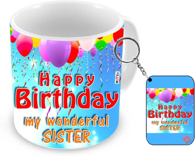 MEYOU Gifts For Sister Birthday Special Gift IZ18NJPMK 1934 Mug Keychain Set Price In India