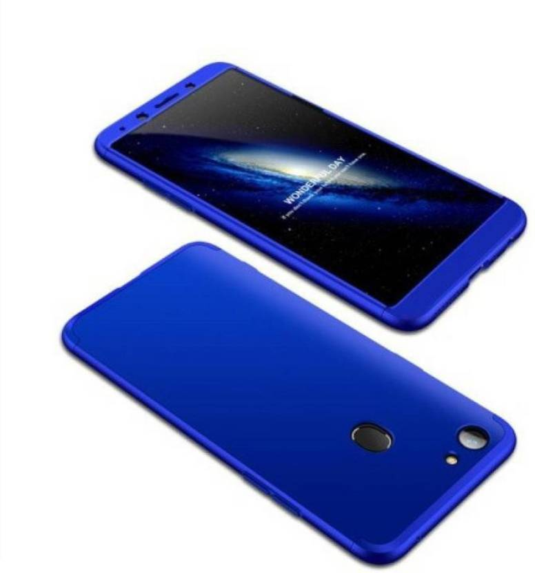 quite nice 5a510 28283 HRV Front & Back Case for Oppo F7 (3-In-1) Slim Fit Complete 3D 360 Degree  Protection Bumper (Full Blue)