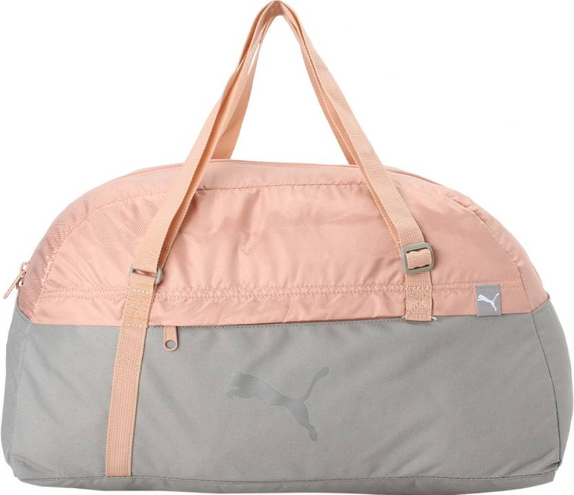 Puma Core Active Sportsbag M EP Travel Duffel Bag Rock Ridge-Peach ... ca94ac6ffbf31