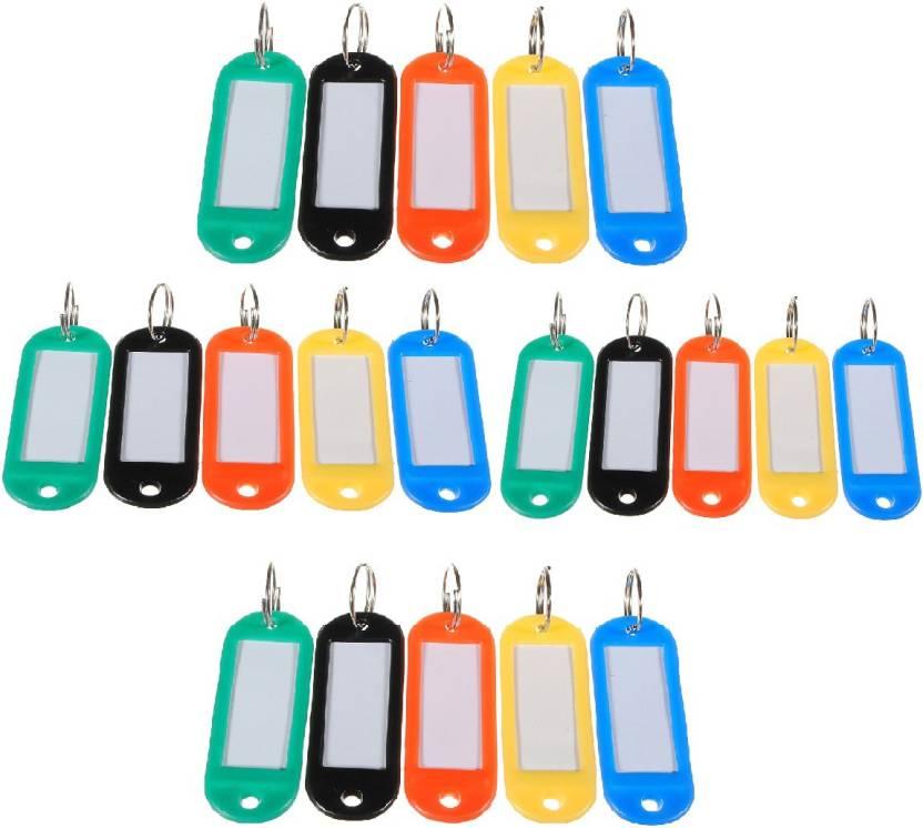 Jadebin Key Id Label Tags Split Key Ring Plastic Keychain Luggage Label  Card   Locker Key - Multicolor Key Chain Price in India - Buy Jadebin Key  Id Label ... 64ce5b206bfd