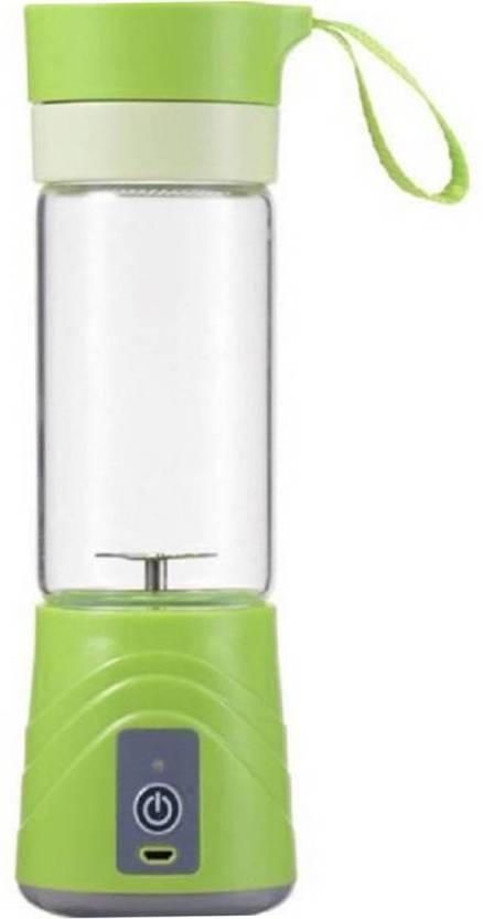 Hojo USB Rechargeable Mini Portable Smoothie Blender Fruit Vegetable Electric Juicer Blender 380ml 20 W Juicer (Random, 1 Jar)