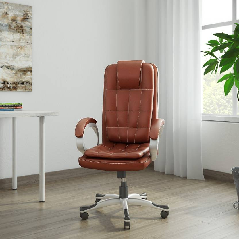 Vj Interior Leatherette Office Arm Chair Price In India Buy Vj