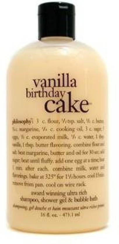 Philosophy Vanilla Birthday Cake Award Winning Ultra Rich Shampoo SG Bubble Bath 473 Ml