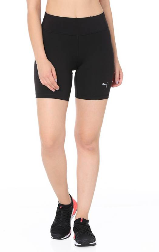 59c765a30266 Puma Solid Women Black Sports Shorts - Buy Puma Solid Women Black Sports  Shorts Online at Best Prices in India